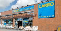 Foto vom Gebäude des CARRO Fliesenmarktes in Rendsburg
