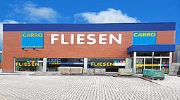 Foto vom Gebäude des CARRO Fliesenmarktes in Husum