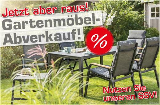Gartenmöbel-Abverkauf!
